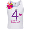 4th Birthday Shirt - Purple Bubble Sparkle - Shirt - Bubblegum Divas Store