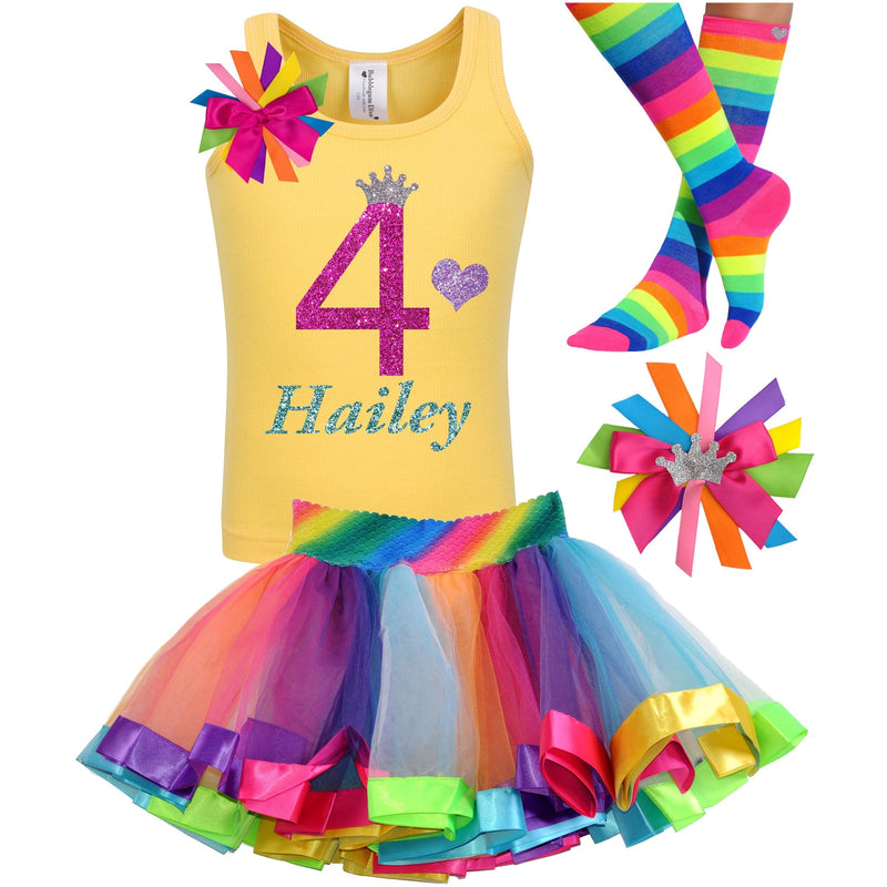 4th Birthday Outfit - Bubble Berry Sparkle - Outfit - Bubblegum Divas Store