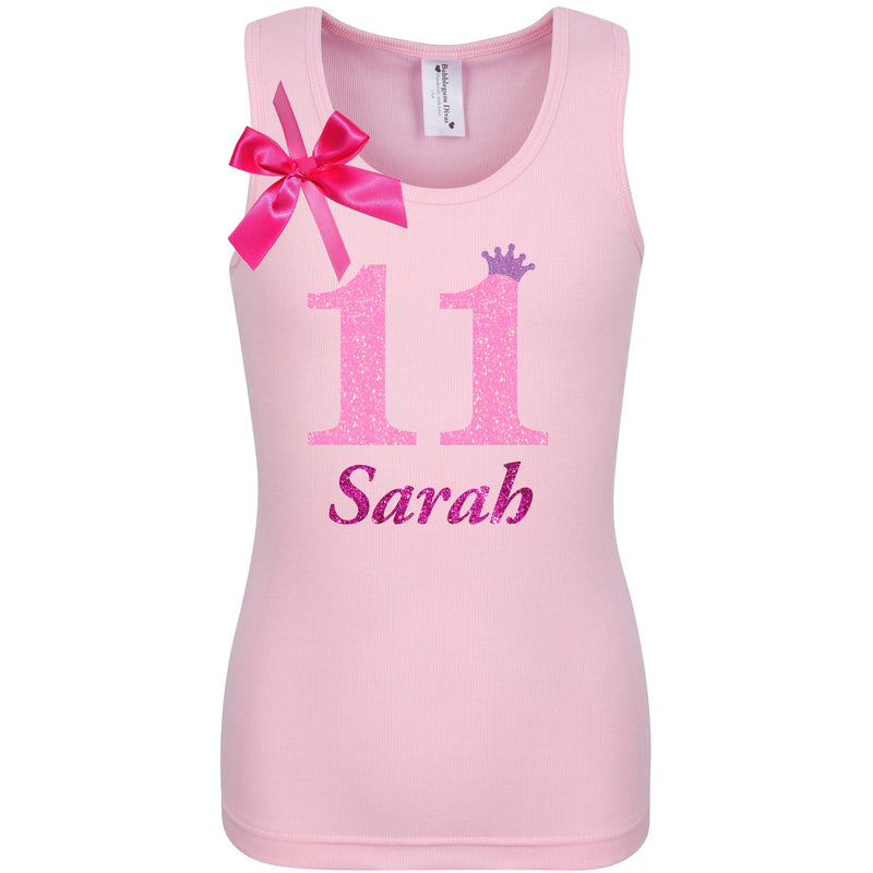 11th Birthday Shirt - Pink Bubble Sparkle - 11th Birthday - Bubblegum Divas Store