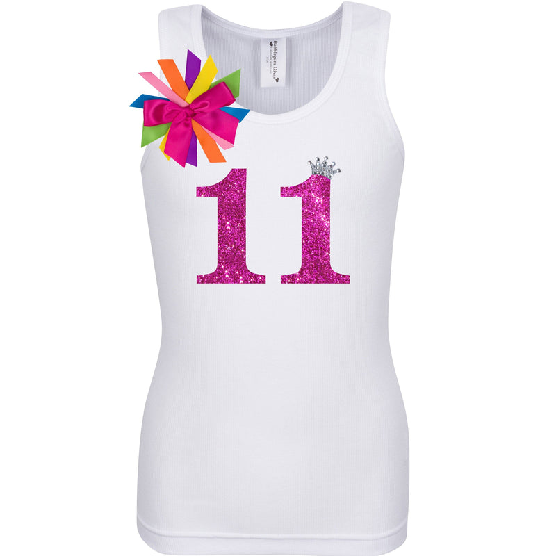 11th Birthday Shirt - Diamond Cherry