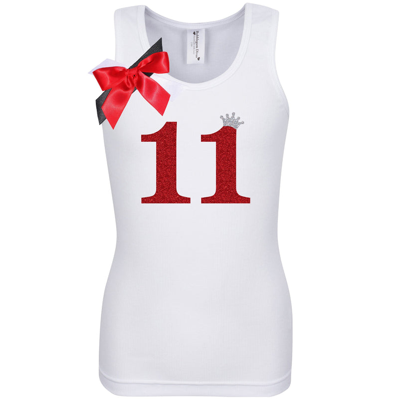 11th Birthday Shirt - Red Cherry Dazzle - Shirt - Bubblegum Divas Store