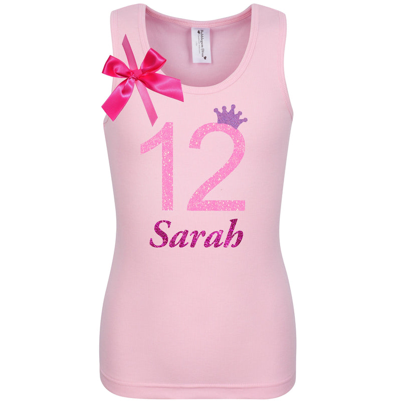 12th Birthday Shirt - Pink Bubble Sparkle