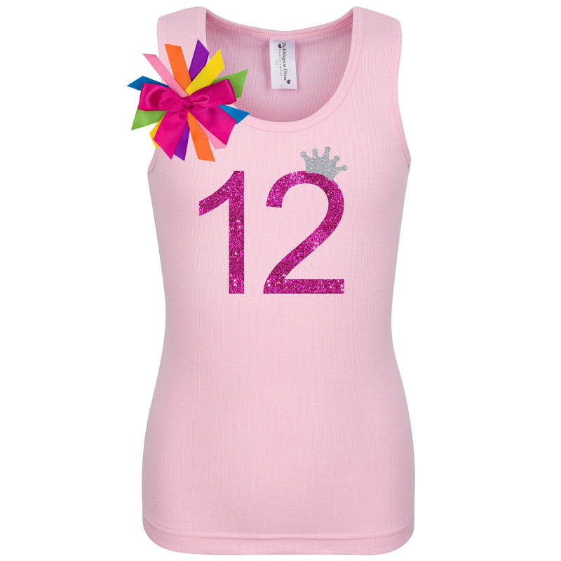 12th Birthday Shirt - Bubble Berry Sparkle