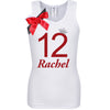 12th Birthday Shirt - Red Cherry Dazzle - Shirt - Bubblegum Divas Store