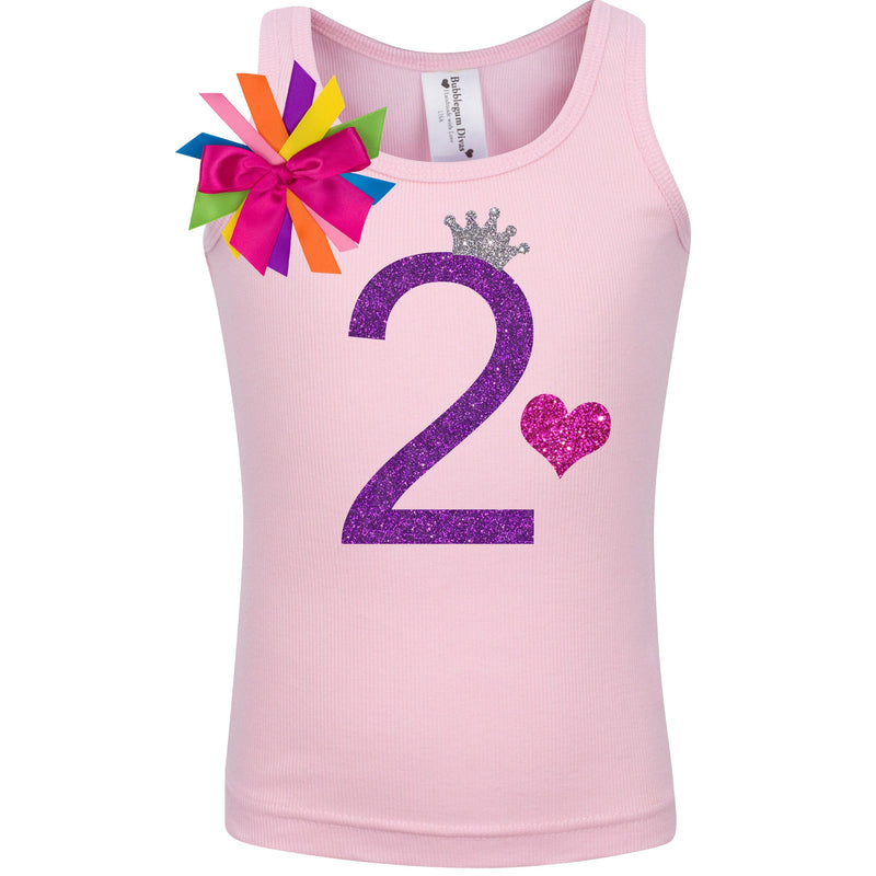 2nd Birthday Shirt - Purple Bubble Sparkle - Shirt - Bubblegum Divas Store