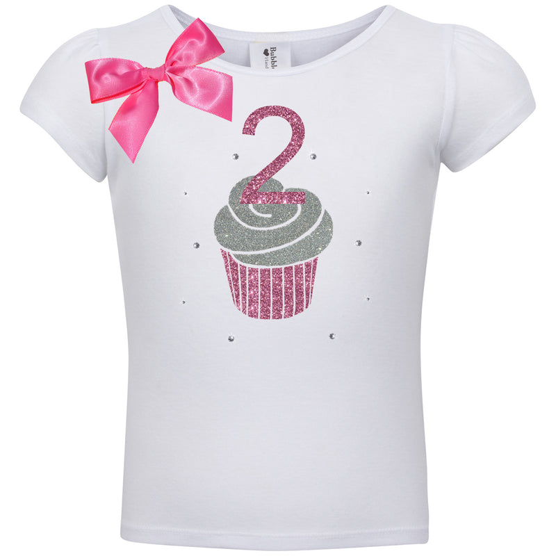 2nd Birthday Shirt - Pink Cupcake - Shirt - Bubblegum Divas Store