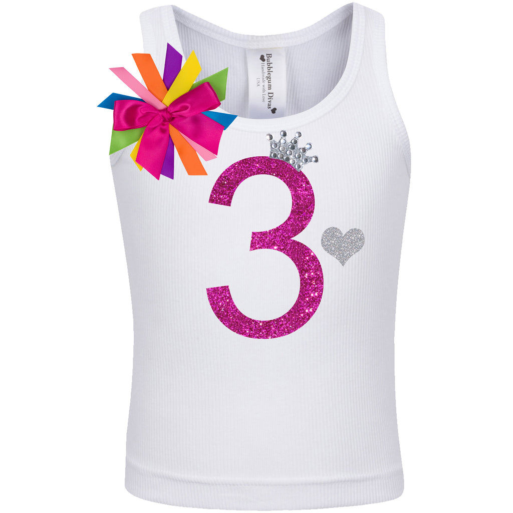 3rd Birthday Shirt - Diamond Cherry - Shirt - Bubblegum Divas Store