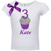 3rd Birthday Shirt - Purple Berry Cupcake - Shirt - Bubblegum Divas Store
