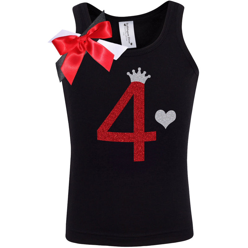 4th Birthday Shirt - Black Cherry Dazzle - Shirt - Bubblegum Divas Store