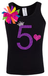 5th Birthday Shirt - Purple Bubble Sparkle