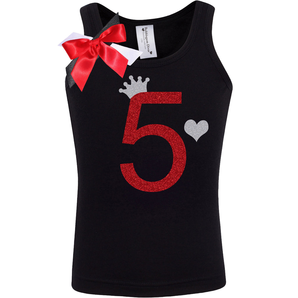 5th Birthday Shirt - Black Cherry Dazzle - Shirt - Bubblegum Divas Store