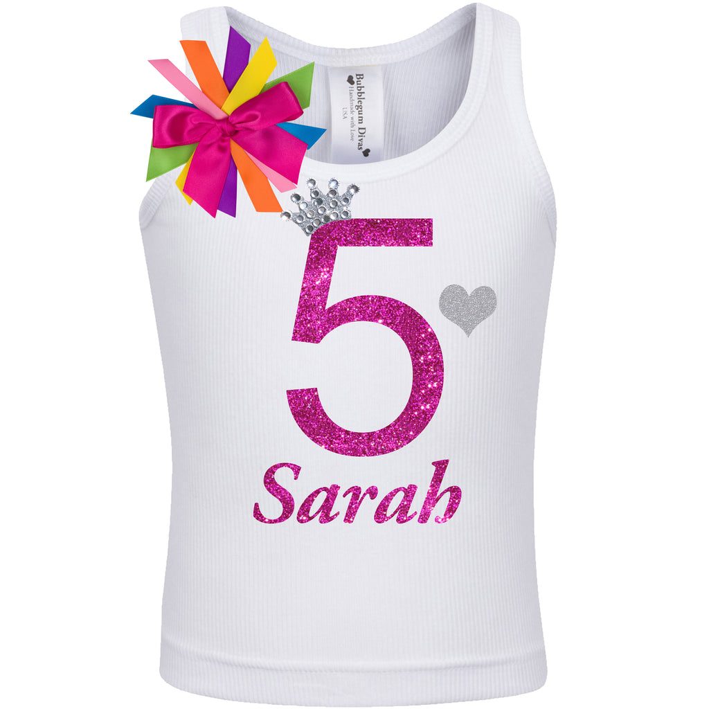 5th Birthday Shirt - Diamond Cherry - Shirt - Bubblegum Divas Store