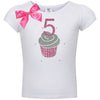 5th Birthday Shirt - Pink Cupcake - Shirt - Bubblegum Divas Store