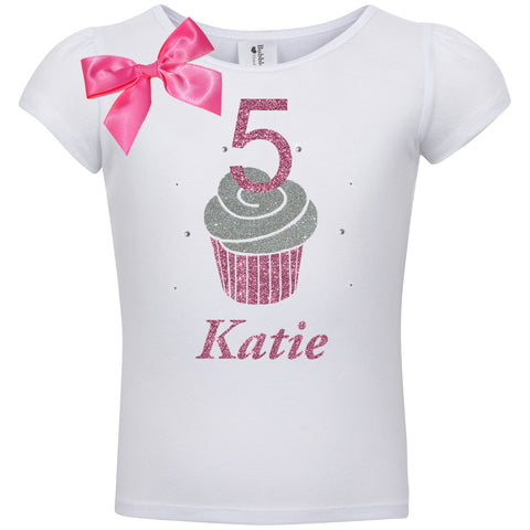 3rd Birthday Shirt - Purple Berry Cupcake