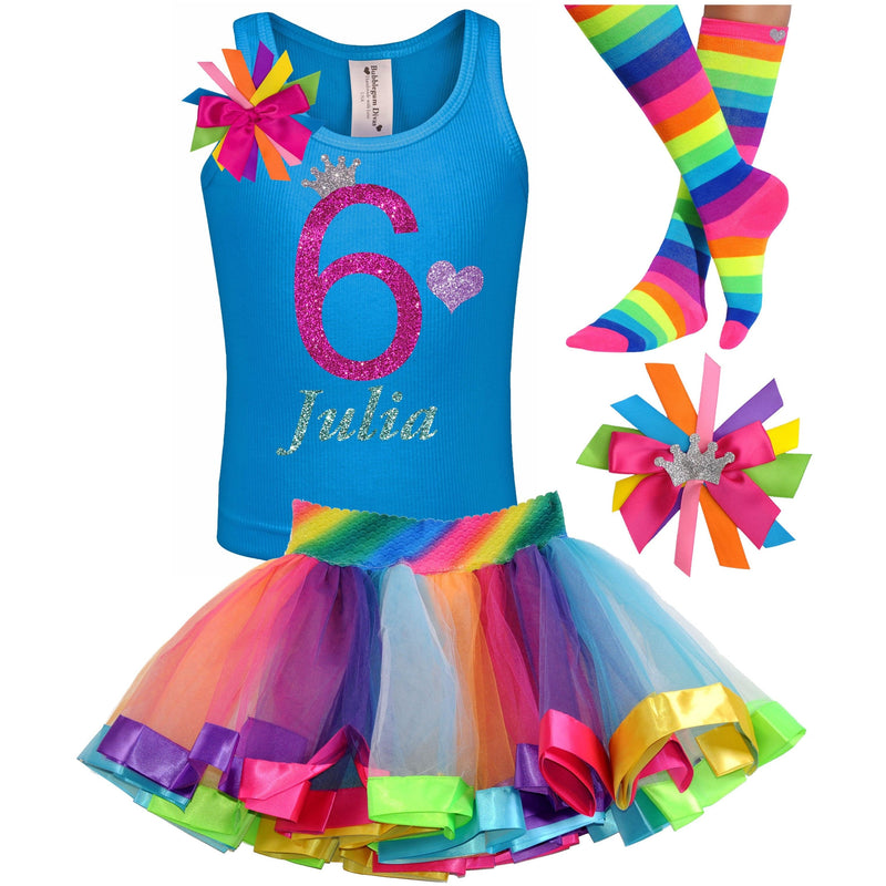 6th Birthday Outfit - Bubble Berry Sparkle - Outfit - Bubblegum Divas Store