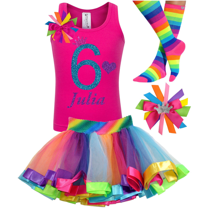 6th Birthday Outfit - Blue Cherry Twist - Outfit - Bubblegum Divas Store