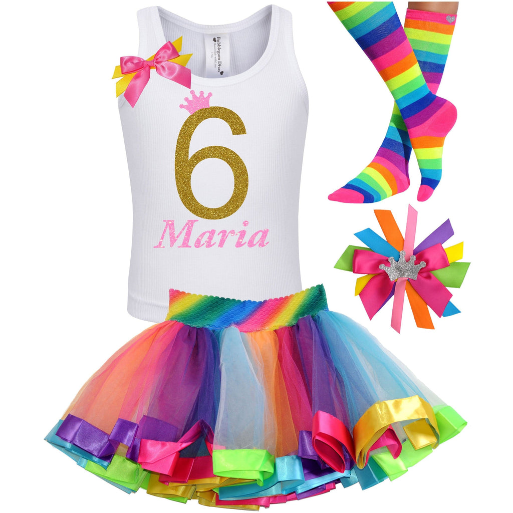6th Birthday Outfit - Golden Caramel - Outfit - Bubblegum Divas Store