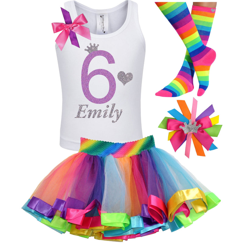 6th Birthday Outfit - Lavender Rose - Outfit - Bubblegum Divas Store