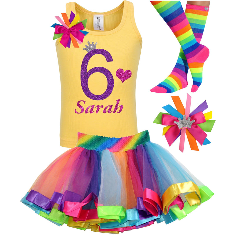 6th Birthday Outfit - Purple Bubble Sparkle - Outfit - Bubblegum Divas Store