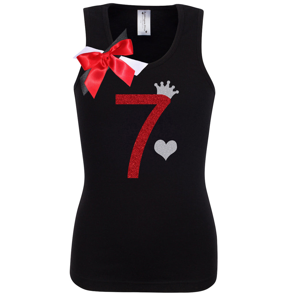 7th Birthday Shirt - Black Cherry Dazzle - Shirt - Bubblegum Divas Store
