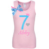 7th Birthday Shirt - Sweet Candy Cotton