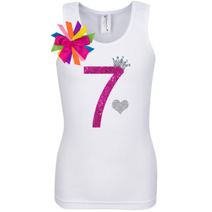 7th Birthday Shirt - Diamond Cherry - Shirt - Bubblegum Divas Store