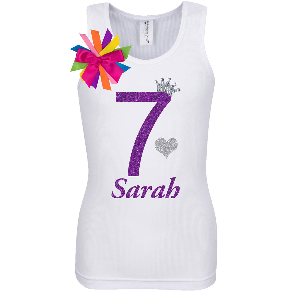 7th Birthday Shirt - Diamond Grape - Shirt - Bubblegum Divas Store