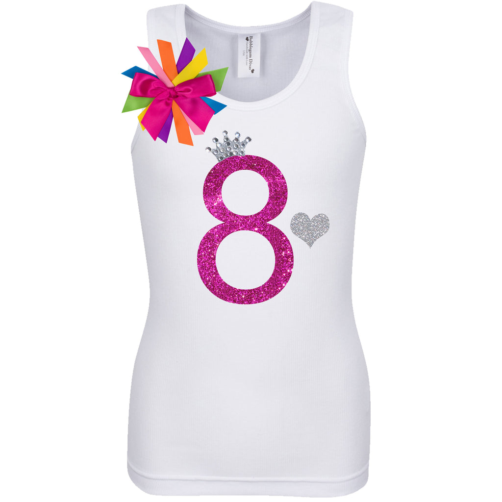 8th Birthday Shirt - Diamond Cherry