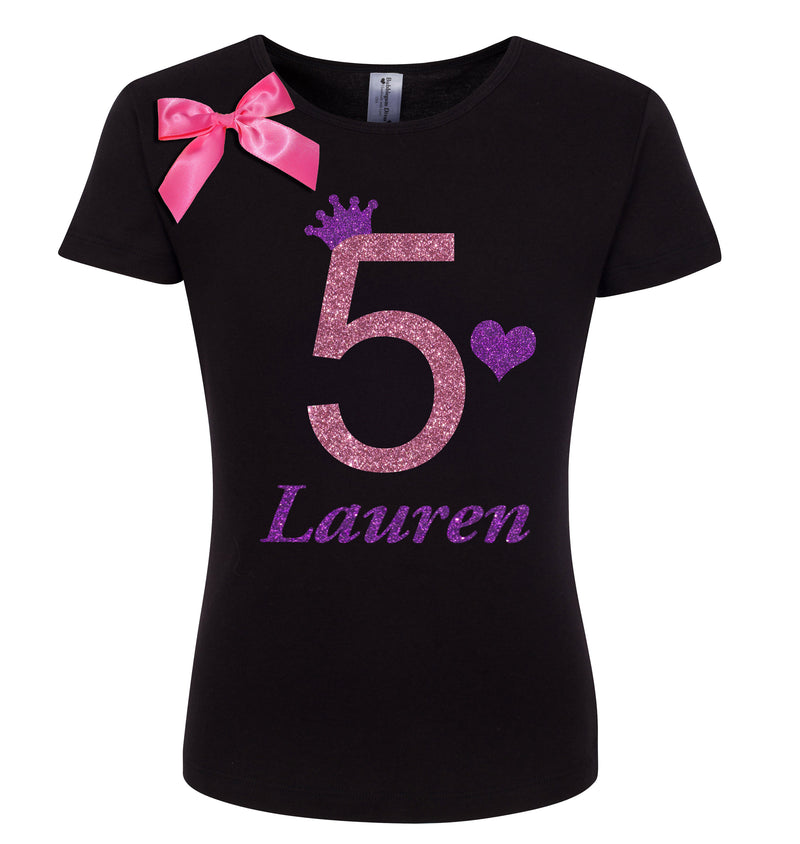 5th Birthday Shirt - Pink Grape