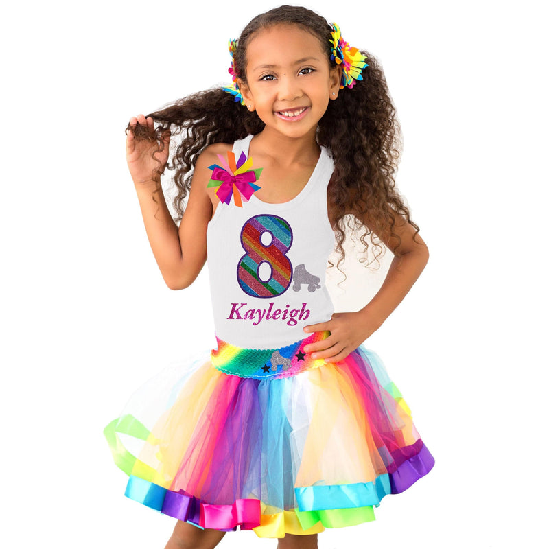 8th Birthday Girl Roller Skate Outfit