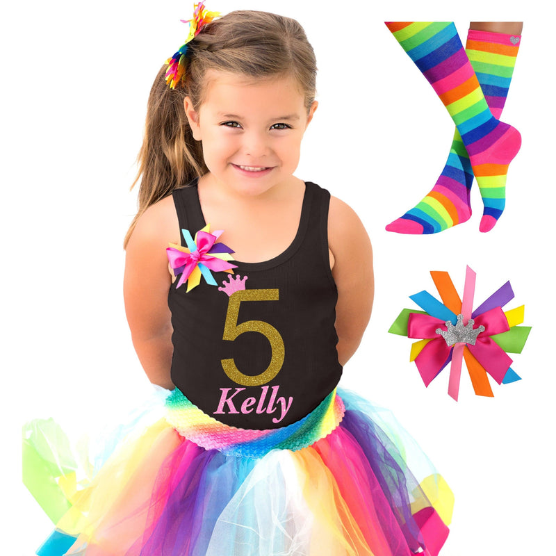 5th Birthday Outfit - Golden Caramel - Outfit - Bubblegum Divas Store