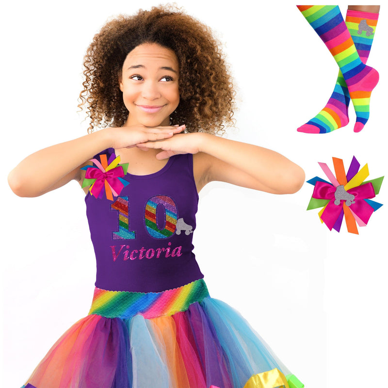 10th Birthday Outfit - Roller Skate Party - Outfit - Bubblegum Divas Store