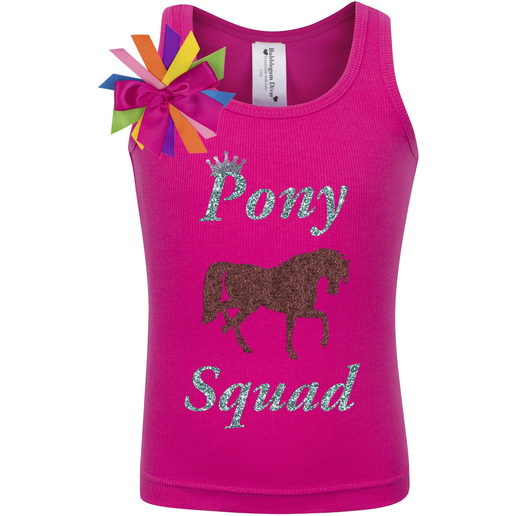 Girls Birthday Shirt - Little Pony Squad - Shirt - Bubblegum Divas Store