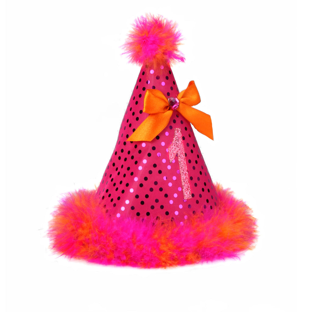 Party Hat - Pink Orange