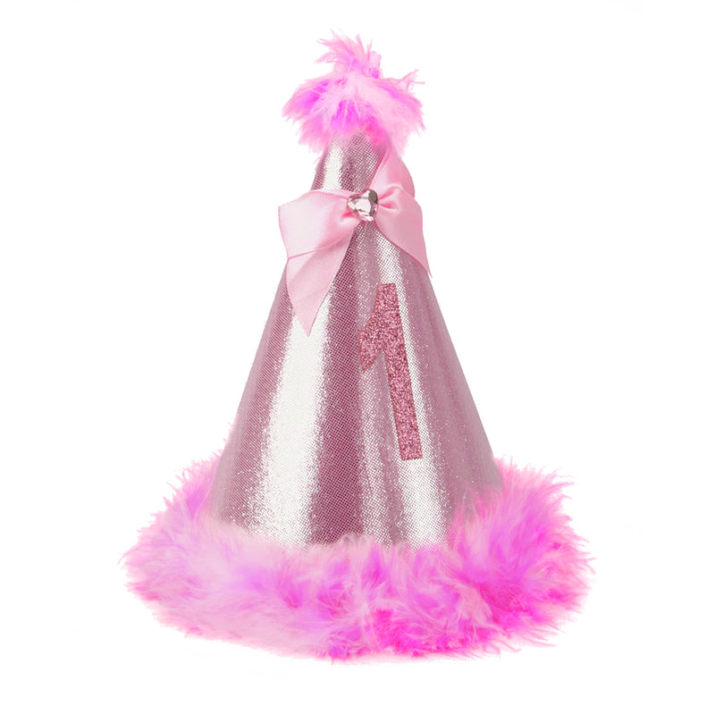 Party Hat - Pink Fur