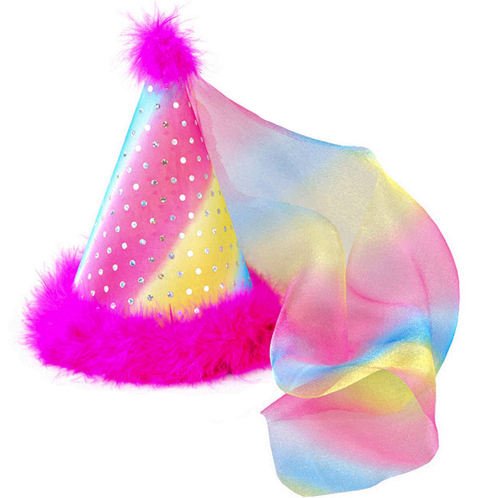 Party Hat - Rainbow Sparkle Dots