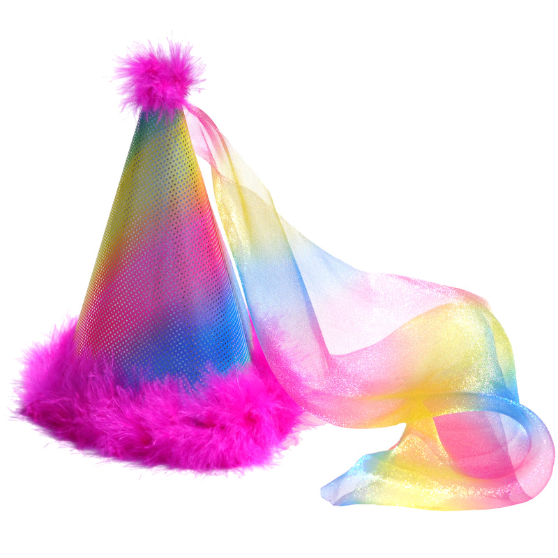Party Hat - Rainbow Sparkle