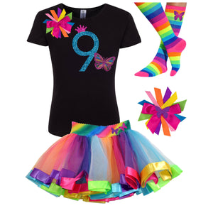 9th Birthday Outfit Butterfly - 9th Birthday Outfit - Bubblegum Divas Store