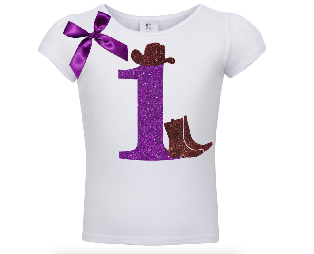 1st Birthday Shirt - Cowgirl Style - Shirt - Bubblegum Divas Store