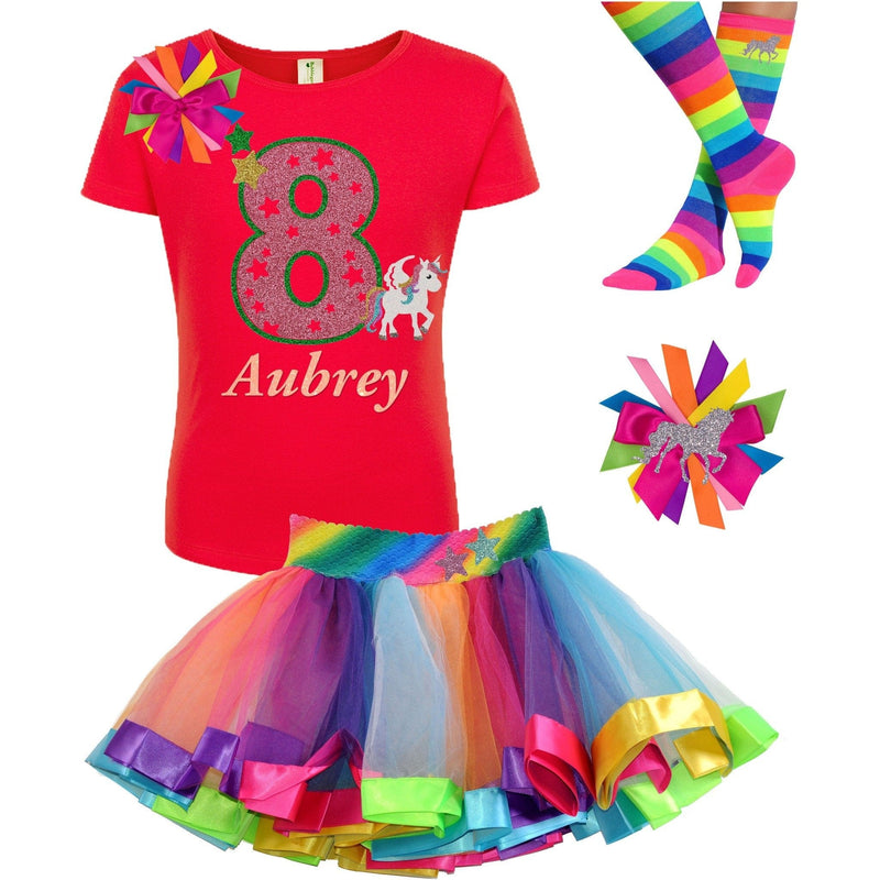 8th Birthday Outfit - Star Unicorn - Outfit - Bubblegum Divas Store