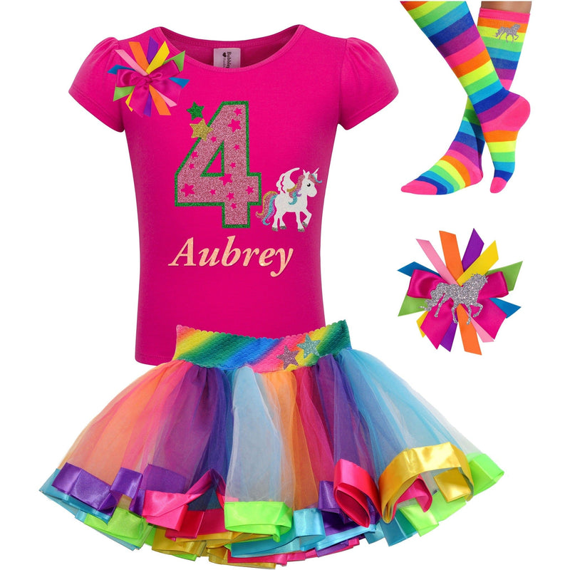 4th Birthday Outfit - Star Unicorn - Outfit - Bubblegum Divas Store
