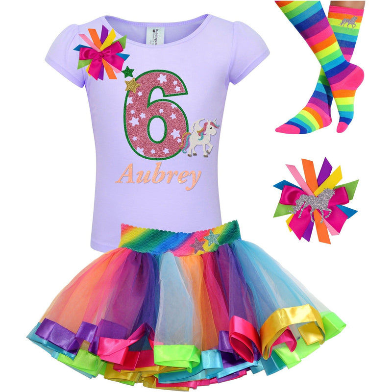 6th Birthday Outfit - Star Unicorn - Outfit - Bubblegum Divas Store