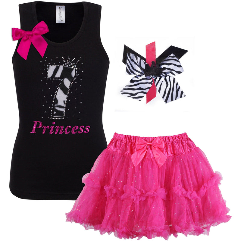 7th Birthday Outfit - Zebra - Outfit - Bubblegum Divas Store