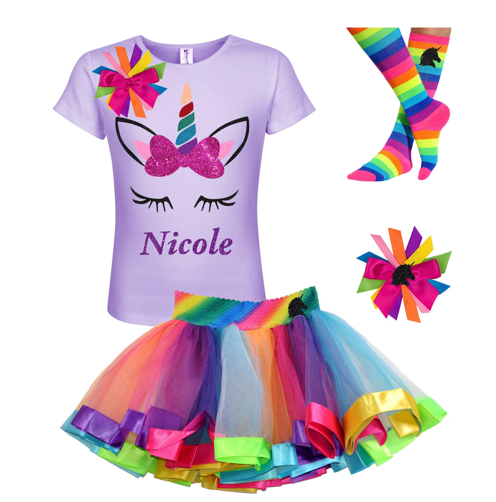 Unicorn Outfit - Big Bow - Outfit - Bubblegum Divas Store