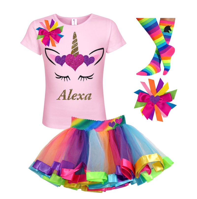 10th Birthday Girl Outfit Personalized Unicorn Shirt - Bubblegum Divas Store