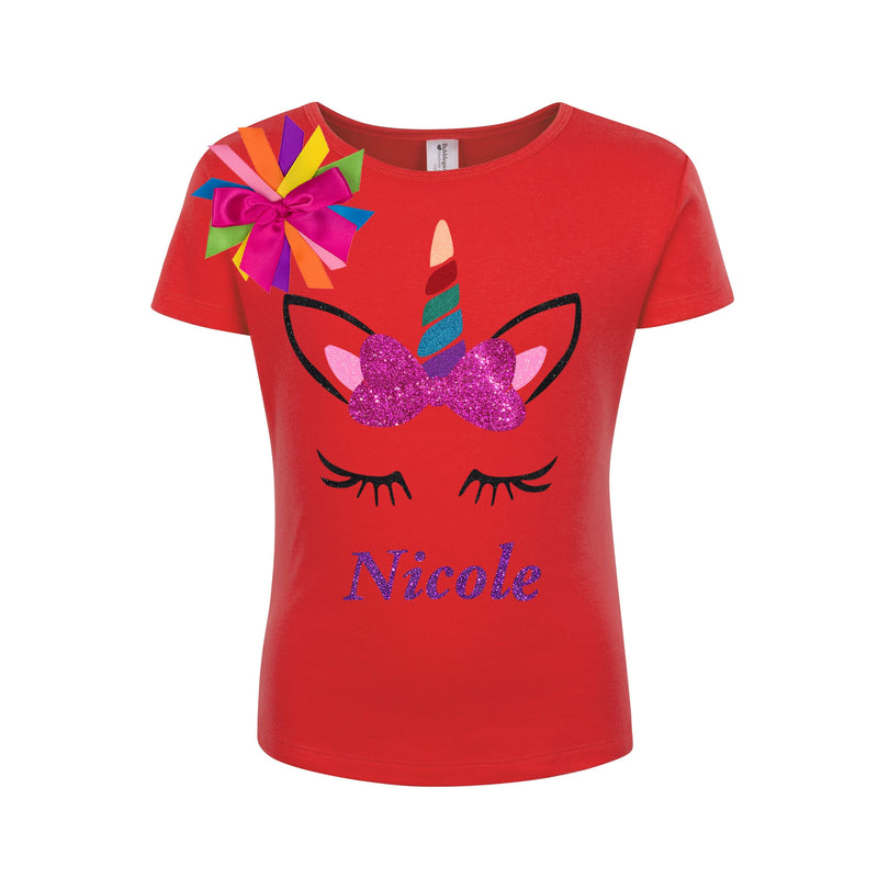 Unicorn Bow Shirt Drew