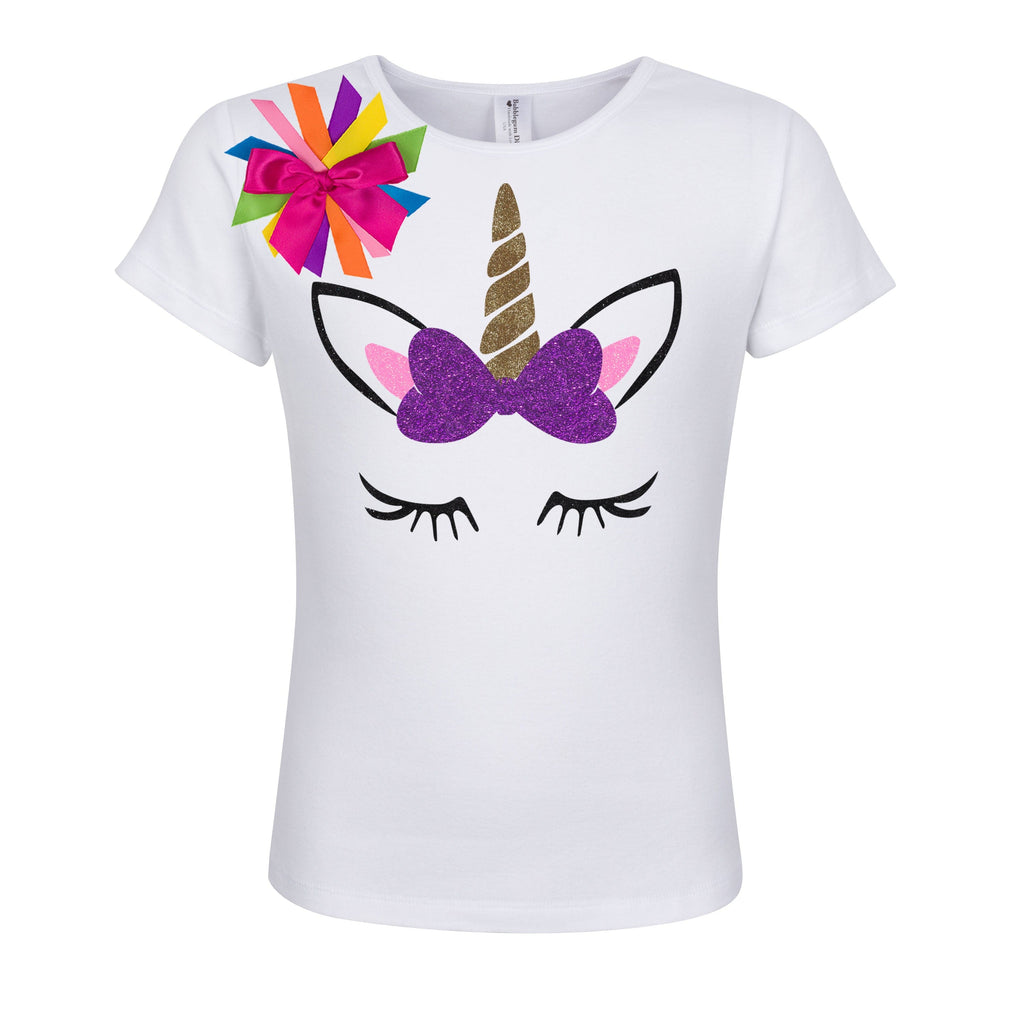 Unicorn Bow Shirt Lily Bee