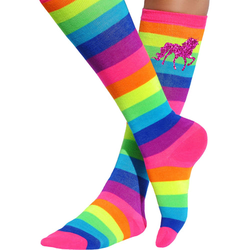 Rainbow Unicorn Knee High Socks