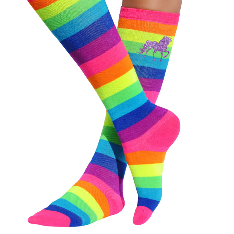 Rainbow Unicorn Socks - Socks - Bubblegum Divas Store
