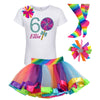 6th Birthday Outfit - Bubble Berry Sparkle